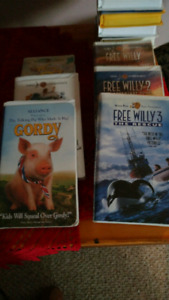 Assorted childrens VHS Tapes