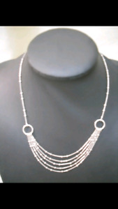 Very elegant 92.5 % silver necklace