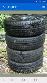 Ford 15 inch steel wheels plus trims