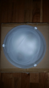 White light fixture ceiling dome flush mount light