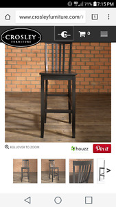 "Bar Stool 30"" Black"