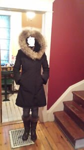 Beautiful coat real fur Sicily brand from Montreal 400$ obo