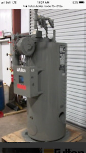 Fulton steam boiler and air compressors for sale