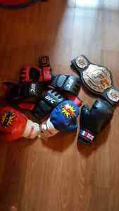 Boxing Gloves with UFC belt