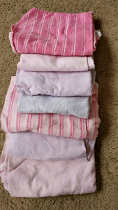 Baby girl recieving blankets. 30.00 for 7