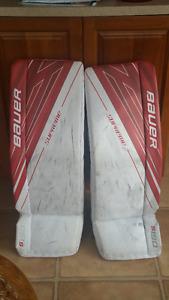Bauer Supreme S190 Goalie Leg Pads Sr Small 33+1