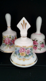3 Vintage China Handbells all in mint condition! Viewing on doorstep!!
