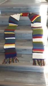 Hand-knit Doctor Who scarf