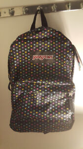 JANSPORT backpack with hearts! (Brand new with tags)