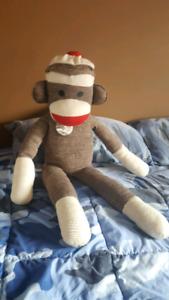 Large Sock Monkey Stuffy
