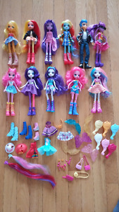 My Little Pony Equestria Girls dolls with accessories