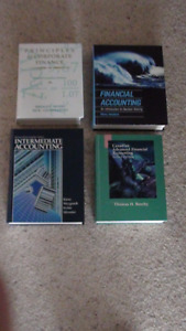 Various Accounting and Finance Textbooks for sale