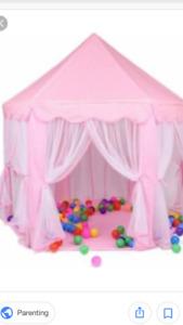 Pink portable princess castle cute playhouse