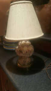 1980's Lamp filled with Shells collected in Siesta Key Florida