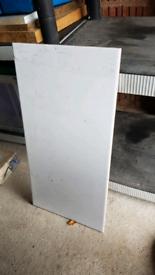 4 large white tiles