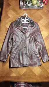 Ladies Leather Jacket, Canadian Made, Oscar Leopold.