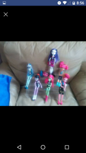 monster high  dolls big blowout special all girls $5.00 each wow