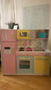Kid craft country kitchen with a lot of accessories