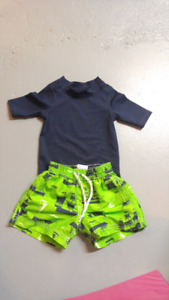 9 month swim outfit (bottoms and rash guard)