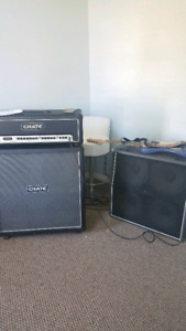 Crate 120 and watt head with 2 4x12 speaker cabs.