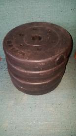 4×2.5kg Vinyl weight plates