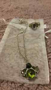 Lia Sophia Necklace and ring set bumble bee