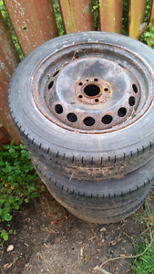 4 Volvo Rims  16 inch  - tires are expired but tread still good