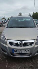 Vauxhall Zafira 1.6 petrol16v Exclusiv 5dr