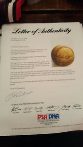 BABE RUTH, SINGLE SIGNED BASEBALL, PSA/DNA LOA Kawartha Lakes Peterborough Area image 2