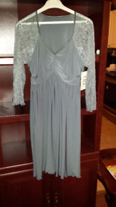 ladies gray dress unworn with tags on