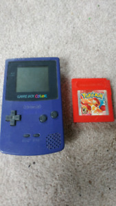 Gameboy Color W/Pokemon Red (Saves)