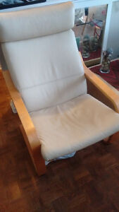 IKEA Leather POANG Chair- Cream coloured