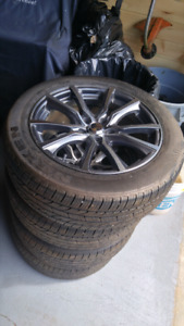 "17"" wheel's and tires 1 year old $900"