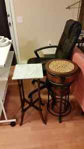 Real marble-top accent table