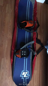 PL snowboard with bindings and carrying bag