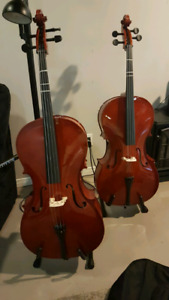 Mint condition cellos