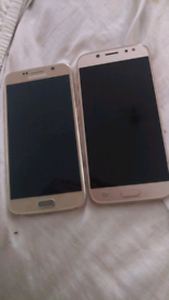 Samsung s6 and J5 screens have cracks 1 phones won't switch on