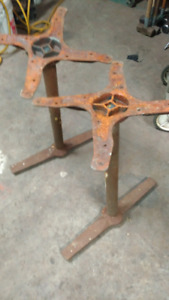 Restaurant cast iron table legs - rustic live edge