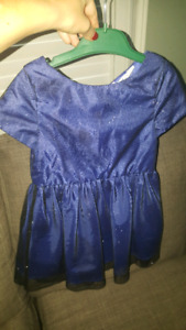 Girls H&M navy party dress - size 3-4