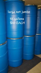 Large shipping barrels/rain barrels