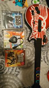 PS3 Guitar Hero controller + Rockband/Band Hero/Guitar Hero: WT