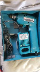 Makita 9.6V Cordless Drill w/Charger-No Battery