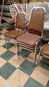 Brown Leather Chairs selling @ $40 ea.