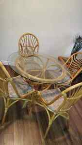 Glass dining table and four chairs London Ontario image 6