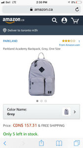 Parkland Academy Backpack (All grey)