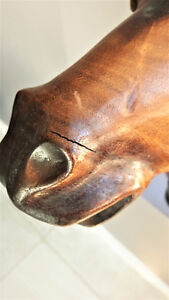 Antique Hand Carved Rosewood Decorative Horse head Kitchener / Waterloo Kitchener Area image 10