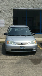 2002 Honda Civic Sedan. Automatic. Safety and Etested!