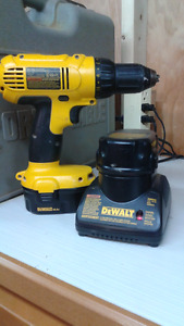 Dewalt,Drill Driver,Charger,2 batteries 14.4 volts,and hard case