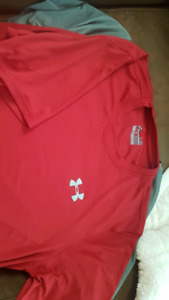 Mens large Under Armour/ Nike sport shirts