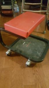 low rolling stool